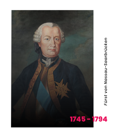 Porträt von Ludwig, Fürst von Nassau-Saarbrücken