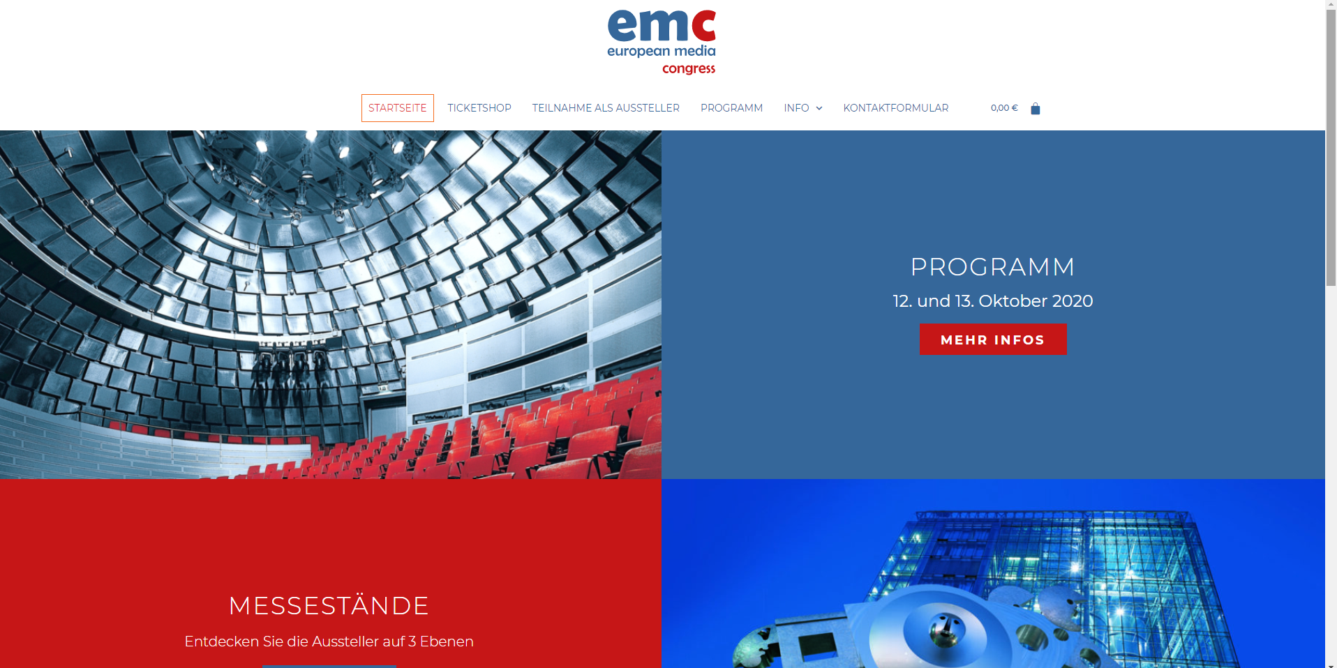 Der Shop des European Media Congress - realisiert von der Agentur N49