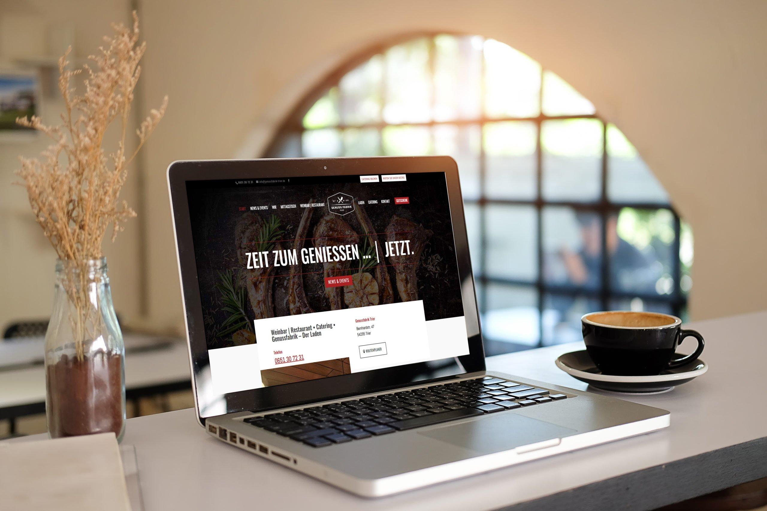 Die Website der Genussfabrik in Trier